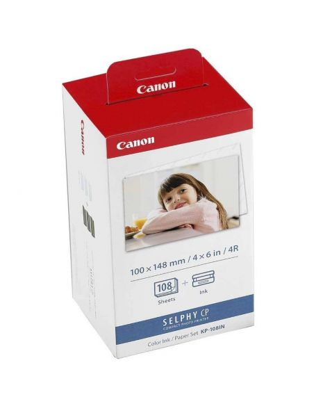Tinta y papel Canon KP-108IN 10x15mm 3115B001AA