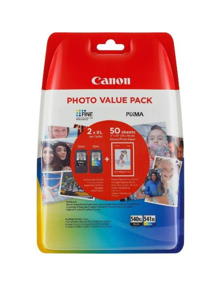 Tinta Pack Canon PG540XL-CL541XL Negro-Color 5222B014