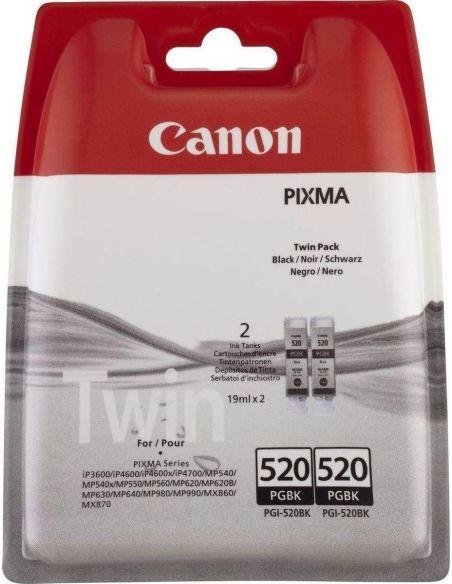 Pack Tinta Canon 520BK Negro 2932B012 (2 Cartuchos x 700 Pág)