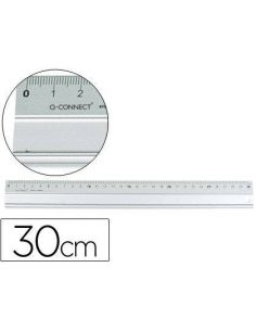Regla metalica aluminio 30 cm KF00286