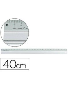 Regla metalica aluminio 40 cm KF00287