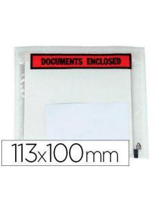 Bolsas adhesivas portadocumentos 100x113mm (100 Unid)