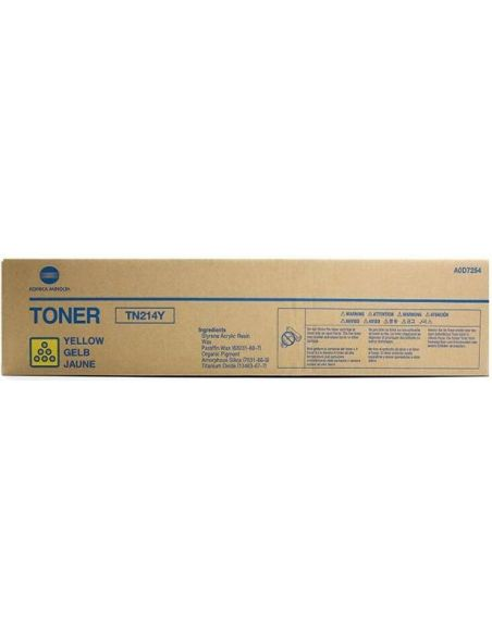 Tóner Konica Minolta TN214Y Amarillo A0D7254 para Bizhub C200