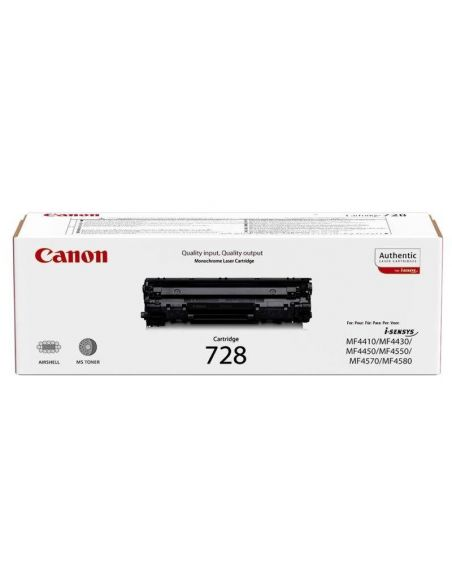 Tóner Canon 728 Negro 3500B002 (2100 Pag) para Fax L150 L410