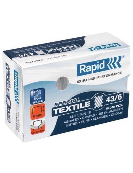 Grapas 43/6 Special Textile Acero (10000 unid) Rapid 24872200