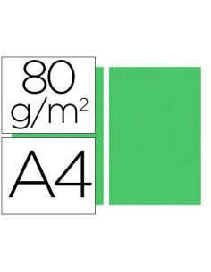 Papel A4 multifuncion color Verde 500h. 80g/m²