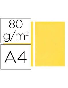 Papel A4 multifuncion color Amarillo 500h. 80g/m²