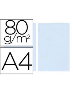 Papel A4 multifuncion color Azul Celeste 500h. 80g/m²