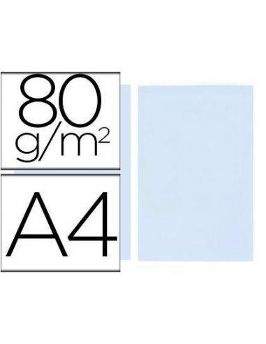 Papel A4 multifuncion color Azul Celeste 500h. 80g/m²