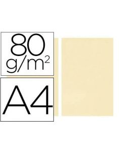 Papel A4 multifuncion color Crema 500h. 80g/m²