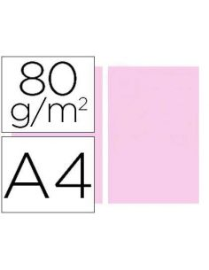 Papel A4 multifuncion color Rosa 500h. 80g/m²