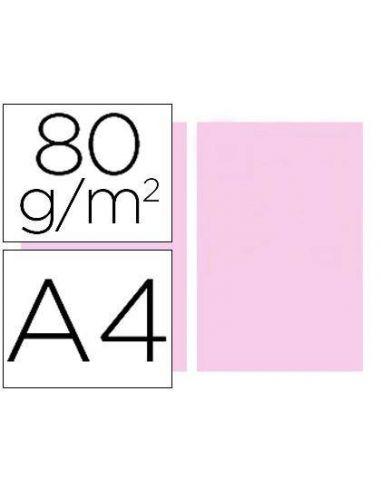 Papel A4 multifuncion color Rosa 500h. 80g/m²