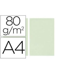 Papel A4 multifuncion color Verde claro 500h. 80g/m²