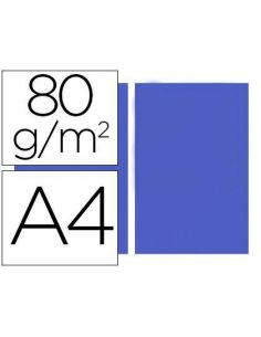 Papel A4 multifuncion color Azul intenso 500h. 80g/m²