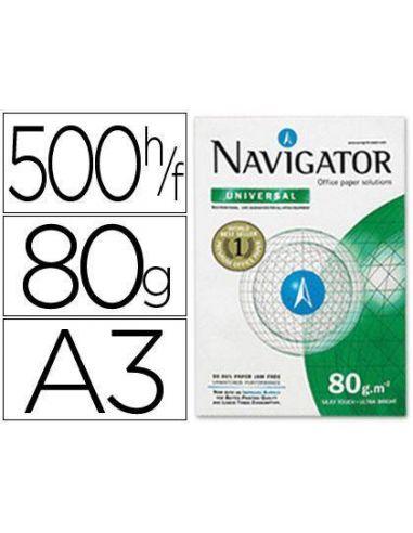 Papel A3 multifuncion 500h. 80g/m² Navigator NAV-80-A3