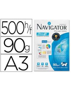 Papel A3 multifuncion 500h. 90g/m² Navigator NAV-90-A3