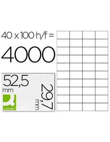 Etiqueta 52,5x29,7mm A4 (100h. x 40 etiq)