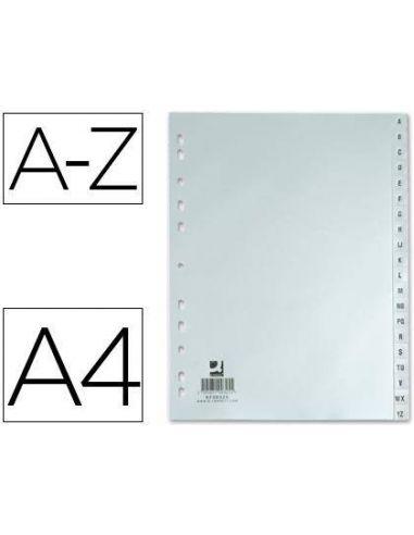 Separador alfabetico plastico a-z din A4-multitaladro KF00325