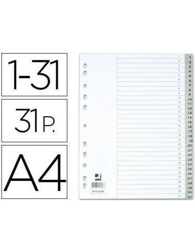 Separador numerico plastico 1-31 juego de 31 separadores din A4-multitaladro KF01898