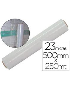 Film extensible manual bobina 500mm x 145m 23mic transparente