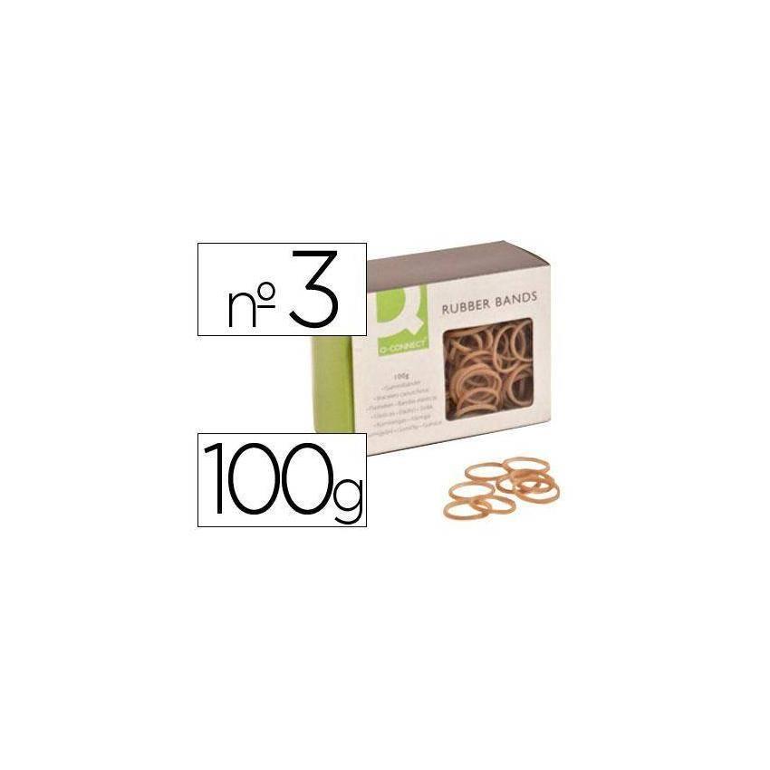 Gomas elásticas 100 gr numero 3 30 x 2 mm KF14691
