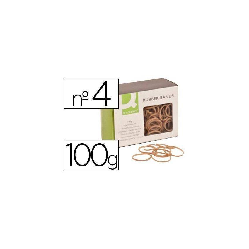 Gomas elásticas 100 gr numero 4 40 x 2 mm KF14692