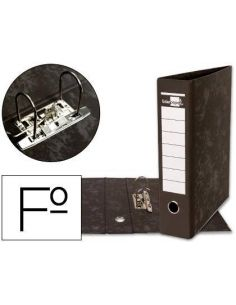 Archivador de palanca Folio Lomo 75mm Negro jaspeado 900534