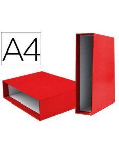 Cajetin archivador A4 80mm rojo 931517