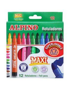 Rotuladores Maxi Punta gruesa Colores Surtidos (12 unid) AR000006