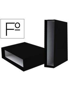 Caja para archivador de palanca FOLIO Lomo 82mm negro CZ14