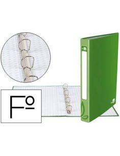 Carpeta 4 anillas 25mm Folio carton forrado verde CA46