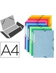 Carpeta gomas A4 3 solapas cartulina colores surtidos 55510E