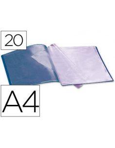Carpeta de fundas 20 pag A4 azul CJ06