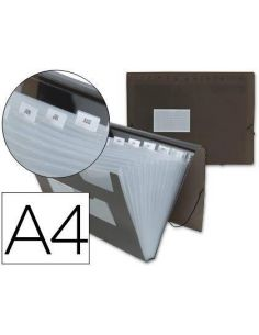 Carpeta clasificadora fuelle 13 departamentos A4 PP negra FU10