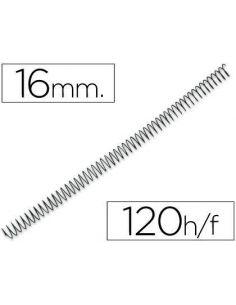 Espiral metalico 64 5:1 16mm 1,2mm (100 unid) KF04432