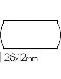 Etiquetas onduladas 26x12mm blanca Adh 1 removible rollo 1500 etiquetas troqueladas 9156396