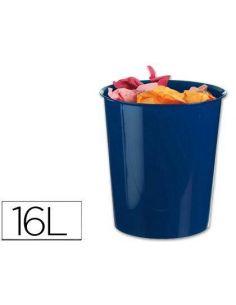 Papelera plastico azul opaco 16 litros KF15250