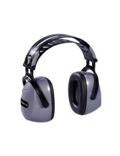 Casco antiruido con orejeras ajustables gris-negro