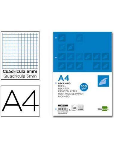 Recambio de papel 100h A4 Cuadricula 5x5 17522C