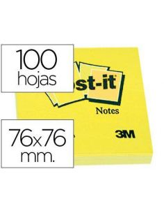 Notas adhesivas 76x76mm Amarillo 100h Post-it FT500072937