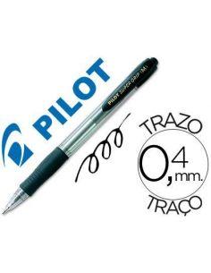 Bolígrafo super grip Negro 0.4mm retractil aceite Pilot BPGP-10-M-N