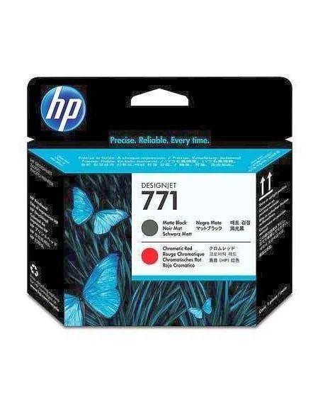 Cabezal HP 711 Matte Negro/Rojo CE017A