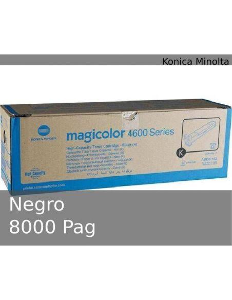 Tóner Konica Minolta 4600 Negro A0DK152 (8000 Pag) para MagiColor 4650 4690