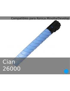 Toner para Konica Minolta A11G451 Cian TN216C (26000 Pag)(No original)