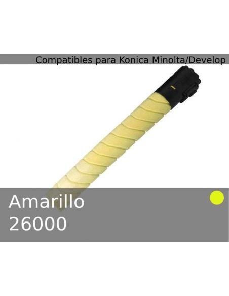Tóner para Konica Minolta TN216Y Amarillo A11G251 (26000 Pag) No original para Bizhub C220 C280