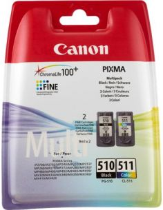 Tinta Canon Pack PG-510 / CL-511 Negro / Color 2970B010