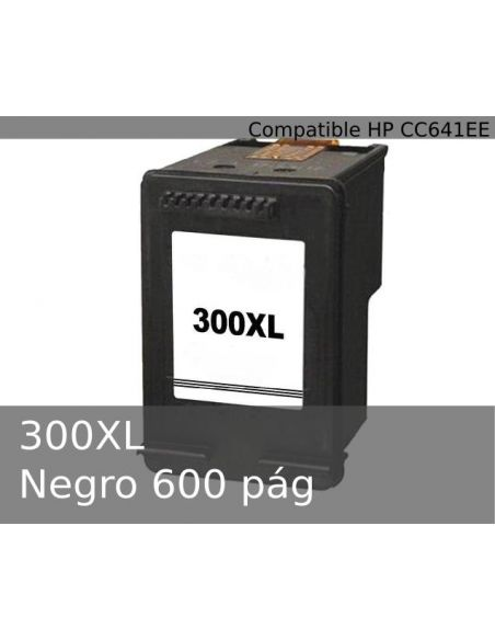 Tinta para HP 300XL Negro CC641EE No original