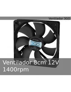 Ventilador 8cm 12V 1400rpm silencioso