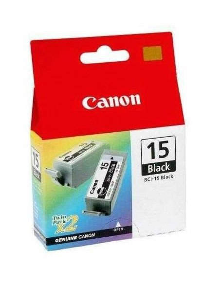 Tinta Pack Canon BCI-15BK Negro 8190A002 (2Unid)
