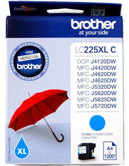 Tinta Brother LC225XLC CIAN (1200 Pág)